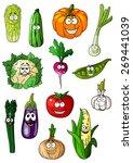 cartoon vegetables characters... | Shutterstock .eps vector #269441039