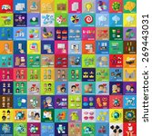 flat icons set  vector... | Shutterstock .eps vector #269443031