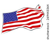 usa flag.swinging in the wind... | Shutterstock .eps vector #269443364