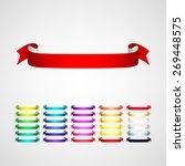 vector ribbons set   Shutterstock .eps vector #269448575