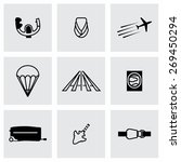 vector airplane icon set on...