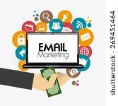 marketing design over white...   Shutterstock .eps vector #269451464