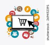 marketing design over white... | Shutterstock .eps vector #269452391