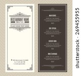 restaurant or cafe menu vector... | Shutterstock .eps vector #269455955