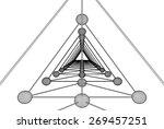 tetrahedron dna molecule... | Shutterstock .eps vector #269457251