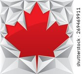 A Red Vector Maple Leaf Is...