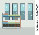 side view of bunk bed with four ... | Shutterstock .eps vector #269470439