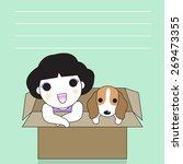 me and my puppy in the paper...   Shutterstock .eps vector #269473355