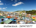 beautiful colorful houses of da ... | Shutterstock . vector #269473577