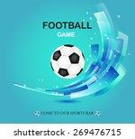 creative football vector design ... | Shutterstock .eps vector #269476715
