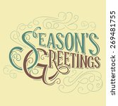 season's greetings typographic... | Shutterstock .eps vector #269481755