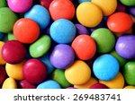 Macro Detail Of Pile Of Colore...