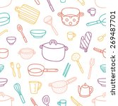 kitchenware and cooking... | Shutterstock .eps vector #269487701