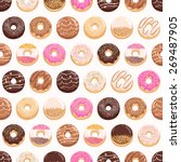 yummy donuts seamless pattern | Shutterstock .eps vector #269487905