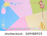 colorful accessories for craft... | Shutterstock . vector #269488925