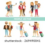 people and couples travelling... | Shutterstock .eps vector #269490041
