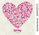 cute spring postcard with... | Shutterstock .eps vector #269492171