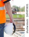 construction worker with helmet ... | Shutterstock . vector #269495831