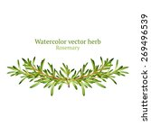 watercolor vector vignette with ... | Shutterstock .eps vector #269496539