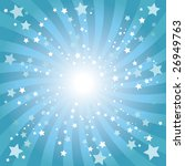 abstract blue star background | Shutterstock . vector #26949763