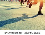 marathon running race  people... | Shutterstock . vector #269501681