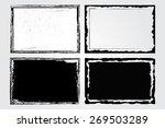 grunge frame set.distress... | Shutterstock .eps vector #269503289