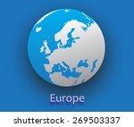 europe vector map.vector globe...   Shutterstock .eps vector #269503337