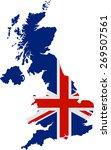 uk map | Shutterstock .eps vector #269507561