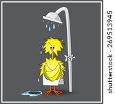 funny illustration of chick in... | Shutterstock .eps vector #269513945