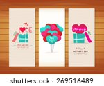 balloon and gifts mother's day... | Shutterstock .eps vector #269516489