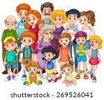 family members happy together... | Shutterstock .eps vector #269526041