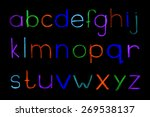 alphabet hand drawn with colour ... | Shutterstock .eps vector #269538137