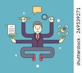concept of multitasking... | Shutterstock .eps vector #269539271