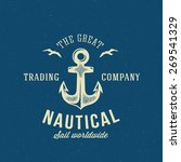 nautical retro vector logo or... | Shutterstock .eps vector #269541329