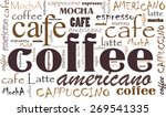 coffee background different...   Shutterstock .eps vector #269541335