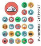 set of seo and development... | Shutterstock .eps vector #269544497