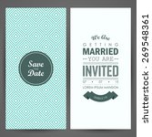 wedding invitation. vector... | Shutterstock .eps vector #269548361