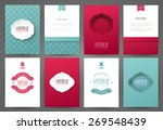 set of brochures in vintage... | Shutterstock .eps vector #269548439