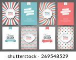 set of brochures in vintage... | Shutterstock .eps vector #269548529