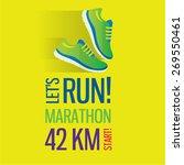 jogging and running marathon... | Shutterstock .eps vector #269550461