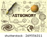 hand drawn about astronomy on...   Shutterstock .eps vector #269556311