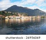 View to Menaggio town at famous Italian lake Como - stock photo