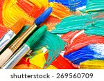 paints and brushes  | Shutterstock . vector #269560709