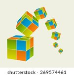 falling color cubes | Shutterstock .eps vector #269574461