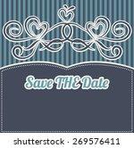 invitation card line drawing... | Shutterstock .eps vector #269576411