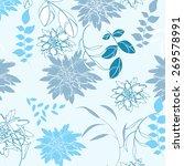 vector pattern flower seamples... | Shutterstock .eps vector #269578991
