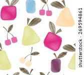 seamless decorative pattern... | Shutterstock .eps vector #269594861