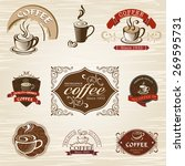 coffee design elements | Shutterstock .eps vector #269595731