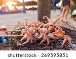 Fresh Grilled Squids In A...