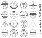 set of badges and logos cycling.... | Shutterstock .eps vector #269596784